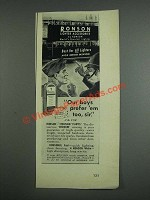 1943 Ronson Lighter Accessories Ad - Our Boys Prefer 'em too, sir