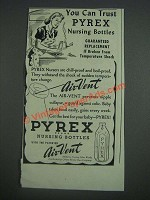 1943 Pyrex Nursing Bottles Ad - You can trust Pyrex nursing bottles