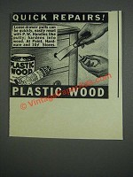 1943 Plastic Wood Ad - Repairs