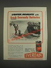 1944 Eveready Batteries Ad - cartoon by Henry Boltinoff