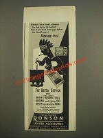 1944 Ronson Redskin Lighter Accessories Ad - Whether 'tis or 'taint a Ronson