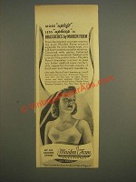 1944 Maiden Form Brassieres Ad - More uplift less upkeep
