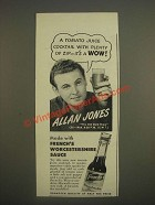 1944 French's Worcestershire Sauce Ad - Allan Jones