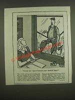 1945 3M Scotch Tape Ad - George Price Cartoon - Excuse Me