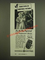 1945 General Electric DW-58 Exposure Meter Ad - Make sure of Christmas Pictures