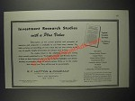 1946 E.F. Hutton Ad - Investment research studies with a plus value