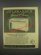 1946 Gulbransen Piano Ad - crowned with the laurels of teachers' praise
