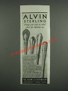 1946 Alvin Sterling Silver Ad - Chateau Rose, Romantique, Chapel Bells Patterns