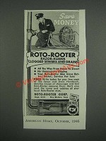 1946 Roto-Rooter Corp. Ad - Save Money