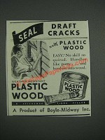 1946 Plastic Wood Ad - Seal Draft Cracks