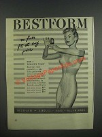1947 Bestform Ad - Talon Girdle style 5464, 5664 and 5864