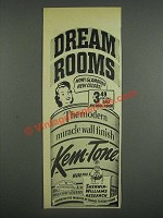 1947 Sherwin-Williams Kem-tone Paint Ad - Dream Rooms