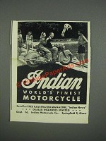 1947 Indian Motorcycle Ad - Indian world's finest motorcycle