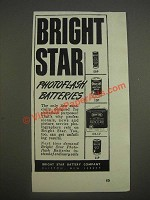 1947 Bright Star Photoflash Batteries Ad