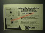 1973 Hornady 30 cal. 168 Gr. Match Bullets Ad - These Targets