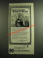 1974 Hornady 6.5mm 140 Grain Spire Point Bullet Ad - Doctor's Prescription