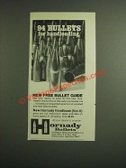 1976 Hornady Bullets Ad - 94 Bullets for Handloading