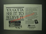 1994 Hornady Vector Illuminated Trajectory Ammunition Ad - See it to Believe It
