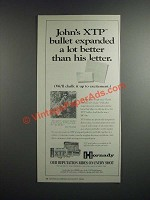 1996 Hornady XTP Bullets Ad - Bullet Expanded a lot better than his Letter