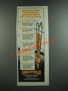 1986 Sheffield Steel Fence Posts Ad - You've Got a Lot at Stake