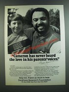 1986 Deafness Research Foundation Ad - Reggie Jackson - Cameron Never Heard
