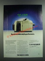 1986 Canon NP 8570 Copier Ad - Speed Exceeded Only by Performance