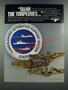 1986 Grumman CASS Consolidated Automated Support System Ad - Damn the Torpedoes