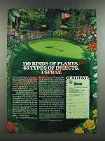 1986 Ortho Orthene Ad - 110 Kinds of Plants. 43 Types of Insects. 1 Spray.