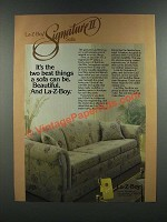 1986 La-Z-Boy Signature II Sofa Ad - It's The Two Best Things