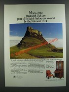1986 Century British National Trust Collection Furniture Ad - Many Treasures