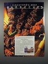 1986 Kingsford Charcoal Briquets Ad - Barbecued Beef Skewers Recipe