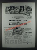 1986 Topps 1952 Reprint Baseball Card Set Ad - Extraordinary Opportunity