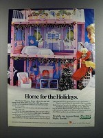 1986 Mattel Barbie Glamour Home Ad - Home for the Holidays
