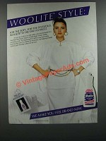 1986 Woolite Detergent Ad - Woolite Style: For The Soft