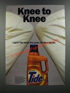 1986 Liquid Tide Detergent Ad - Knee to Knee