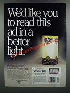 1986 General Soft-White Reader Light Ad - Read in a Better Light