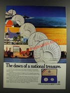 1986 United States Liberty Coins Ad - Dawn of a National Treasure