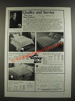 1986 The Company Store Down Comforters Ad - Gstaad Year-Round, Square Stitch