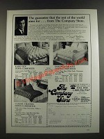 1986 The Company Store Down Comforters Ad - Karo Step, European Hi-Loft
