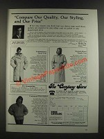 1986 The Company Store Ad - Contemporary Down Coat, Women's Down Trench Coat