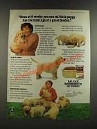 1986 Kal Kan Puppy Formula Dog Food Ad - Even at 8 Weeks