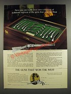 1986 The Franklin Mint Ad - Western Heritage Museum The Guns that Won The West