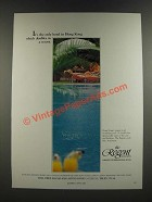 1986 The Regent Hong Kong Hotel Ad - Doubles As a Resort