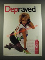 1986 Dep Sculpt & Hold Mousse Ad - Depraved