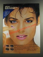 1986 Ciba Vision-Care Softcolors Contact Lenses Ad