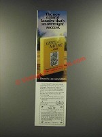 1986 Ex-Lax Gentle Nature Ad - Natural Laxative That's an Overnight Success