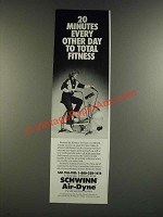 1986 Schwinn Air-Dyne Exercise Bike Ad - 20 Minutes Every Other Day