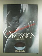 1986 Calvin Klein Obsession for the Body Ad!