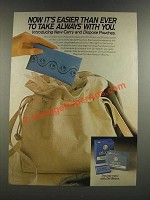 1986 Always Pads Carry and Dispose Pouches Ad - Easier Than Ever