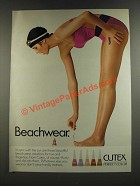 1986 Cutex Perfect Color For Nails Ad - Beachwear